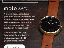 Moto 360 promo for grad season
