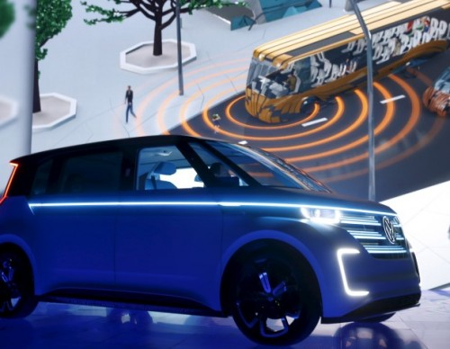 Volkswagen Rolls Out The Budd-E Microbus Concept