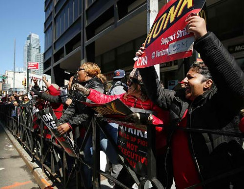 Verizon Workers Walk Off Jobs And Strike