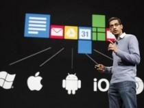 Sundar Pichai, senior vice president of Google Chrome, speaks during Google I/O Conference at Moscone Center in San Francisco, California June 28, 2012.