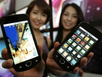 Samsung Electronics Co's Android smartphones