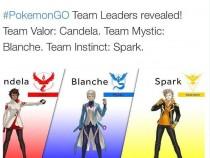 #PokemonGO Team Leaders Revealed! Tweeted by Pokemon Go @PokemonGoApp