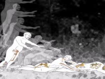 Animated reconstruction shows fall of early fossil hominin 'Lucy' from tree