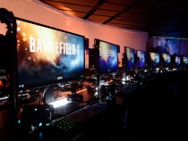 Game Maker Electronic Arts (EA) Hosts Its Annual Press Conference In Los Angeles