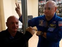 Astronauts Mark and Scott Kelly