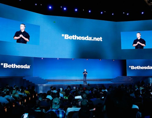 Bethesda Representative During a Conference in 2015