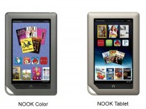 Nook Color(L) and Nook Tablet