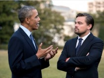 Obama News: Leonardo DiCaprio  And Obama Talks About Climate Change At White House's South By South Lawn Festival