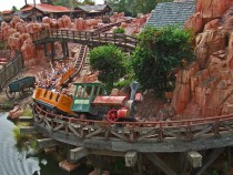Disney World's Big Thunder Mountain Railroad rollercoaster