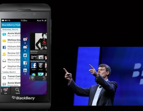 BlackBerry Z10 and BlackBerry CEO Thorsten Heins