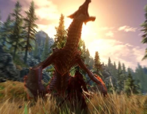 Dragonborn Fights a Dragon