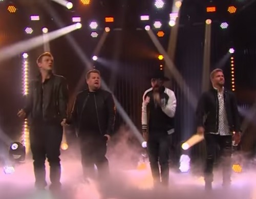 Watch James Corden Bring Back Backstreet Boys Onstage; Complete With Matching Outfit and Dance Steps