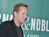 Kiefer Sutherland Signs Copies Of 'Down In A Hole'