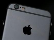 Apple logo on iPhone