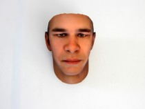 3D-printed face