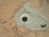 Curiosity Drill Hole and Test Drill Hole