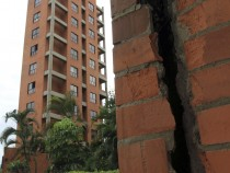 Earthquake damage in Colombia