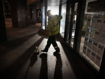 Night Workers On Shift As The City Sleeps