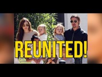 Reunited! Brad Pitt sees his children for the first time since shock split from Angelina Jolie after