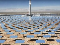 Crescent Dune Solar Energy Plant Harvesting The Sun's Ray