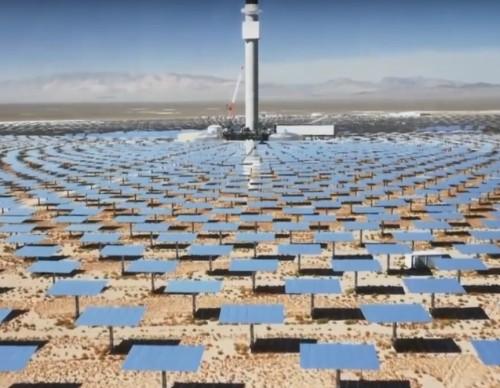 Crescent Dune Solar Energy Plant Harvesting The Sun's Ray