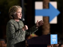 Democratic Presidential Nominee Hillary Clinton Campaigns In Las Vegas