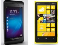 BlackBerry Z10 and Nokia Lumia 920(R)