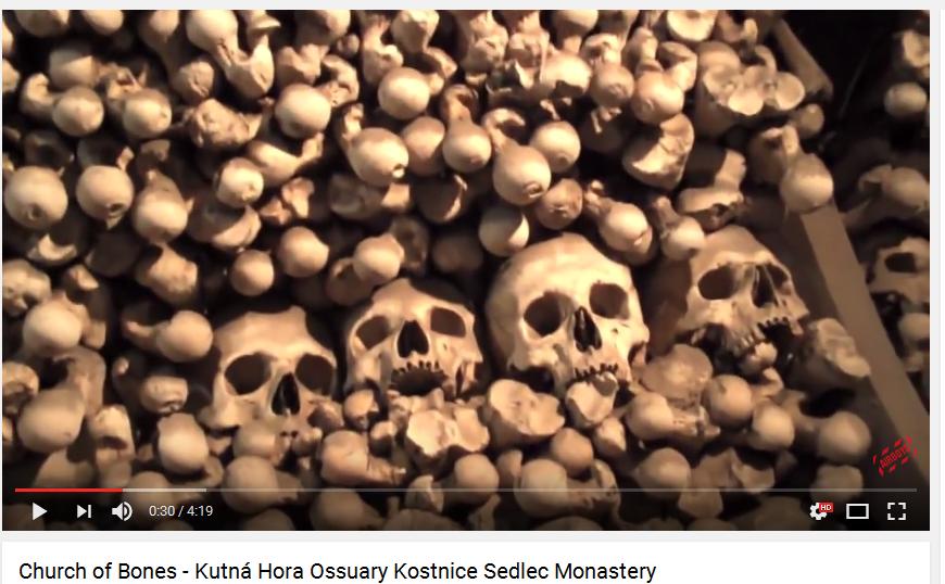 Church of Bones - Kutná Hora Ossuary Kostnice Sedlec Monastery