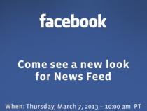 Facebook News Feed Invite