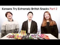 Koreans Try Walkers Crisps and Mr. Porky and Then British Snacks