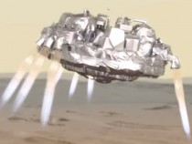 A Depiction of the Schiaparelli Lander On Its Descent To Mars