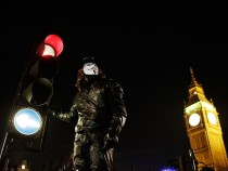 Anonymous Group Protest In Westminster