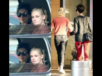 Spotted: Kristen Stewart and St. Vincent Sporting Matching Outfits While Doing Errands