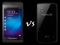 BlackBerry Z10 vs. Nexus 4