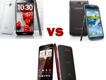 LG Optimus G Pro Vs Samsung Galaxy Note 2 Vs HTC Droid DNA