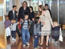 Brad Pitt And Angelina Jolie Arrive Tokyo