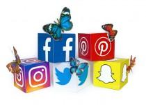 Instagram, Snapchat, Facebook, Twitter and Pinterest