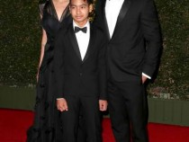 Brad Pitt and Angelina Jolie with their son Maddox