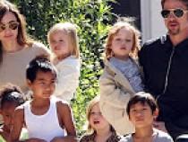 Angelina Jolie and Brad Pitt with their six kids