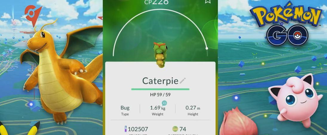 Evolving CATERPIE to BUTTERFREE (POKEMON GO EVOLUTION)