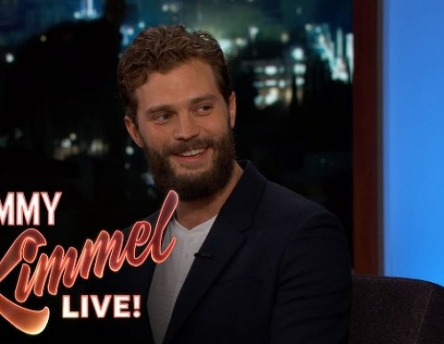 Jamie Dornan slams rumors of being replaced in an interview with Jimmy Kimmel.