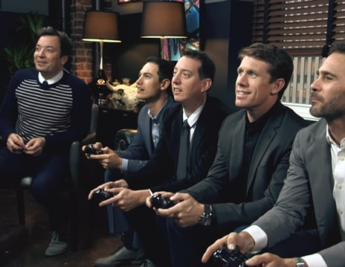 Jimmy Takes on the Top NASCAR Drivers in Mario Kart 8