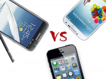 Galaxy Note 2 vs iPhone 5 vs Galaxy S4