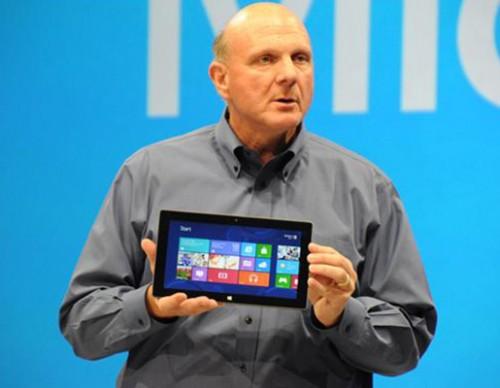 Steve Ballmer With A Surface Tablet
