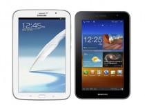 Samsung Galaxy Note 8.0 (L) and Samsung Galaxy Tab 7.0 Plus