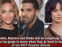 Grammy Awards 2017: Beyoncé, Drake, Rihanna lead nominations