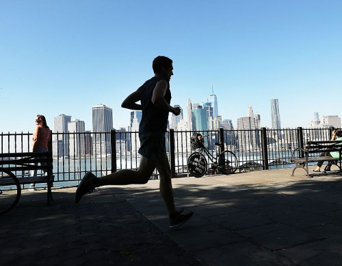 New Yorkers Enjoy Summer Weather In October