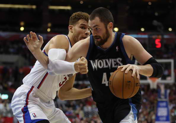 Blake Griffin and Kevin Love