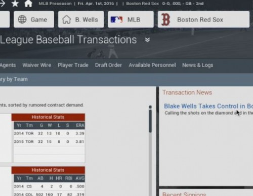 Out of the Park Baseball (OOTP) 17: Boston Red Sox Season 1 Episode 1