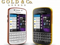 Gold And Rose Gold BlackBerry Q10